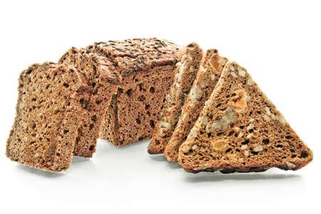 celulosa: productos de panader�a fresca aislados en fondo blanco. Foto de archivo