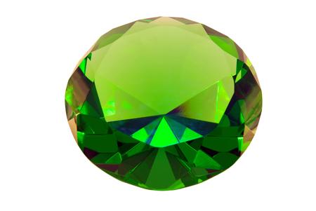 emerald stone: green emerald stone on a white background