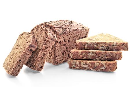 Fresh baked goods isolated on white background. Stock Photo