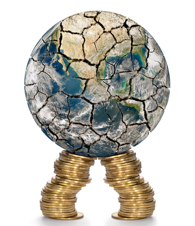 bidding: Financial support for the weakened of the world economy. Elements of this image furnished by NASA (http:www.nasa.gov) Stock Photo
