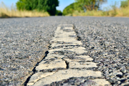 Tough, hard asphalt road, as a way of civilization