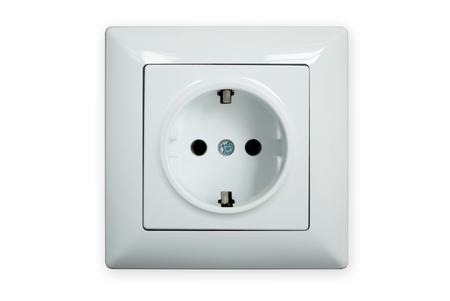 electric socket: Electric socket isolated on a white background