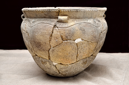 Ancient ceramic vessel, Trypillian culture, Ukraine, 4 millennium BC.