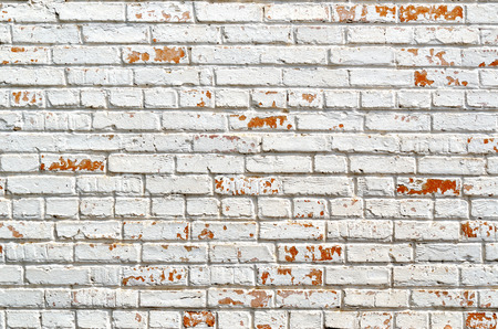 Texture of the old brick, painted in white Banco de Imagens