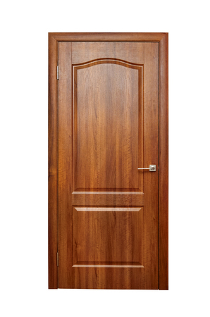 Wooden door, doorway, entrance and exit from the room. Standard-Bild - 117924730