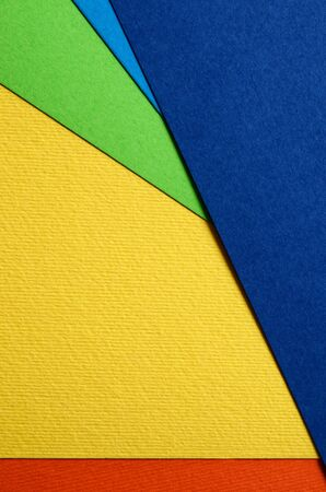 Texture of bright sheets of color cardboard closeup Stockfoto