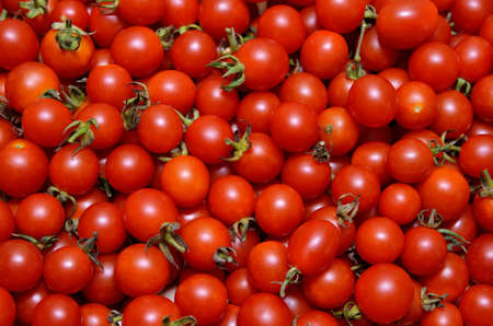 A lot of red, ripe tomato close-up 免版税图像
