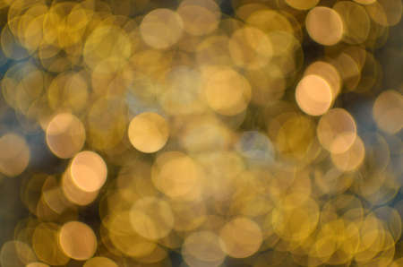 Abstract of blurry, colored lights of holiday illumination 免版税图像