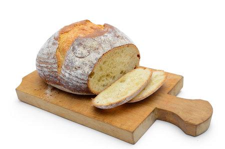 Baking, fresh bread isolated on white background 免版税图像