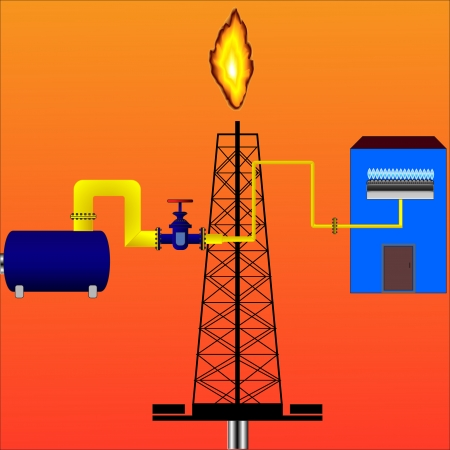 natural gas production: Producci�n de gas natural vectorial y su entrega a la casa a trav�s de una tuber�a