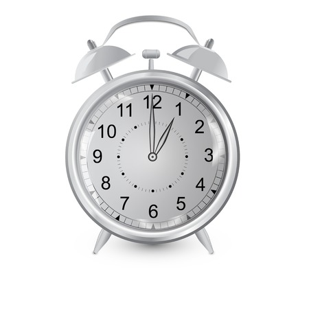 Vector clock on a white background in shades of gray Vector