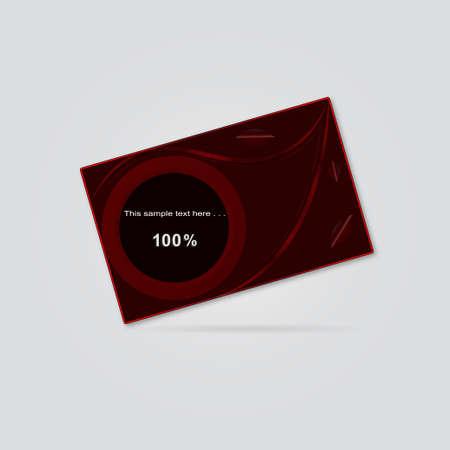 claret: Vector Image business card in claret tones