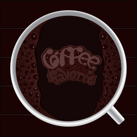 Favorite coffee Vector