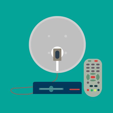 airwaves: Satellite antenna Illustration