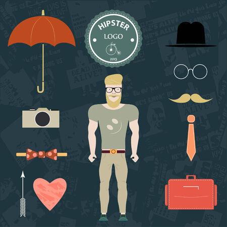 sexy umbrella: Set hipster