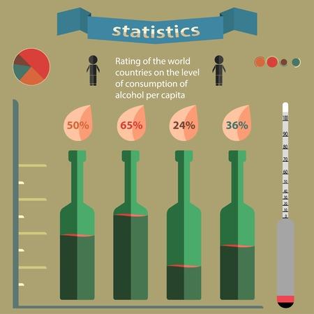 Estadística Ilustración de vector
