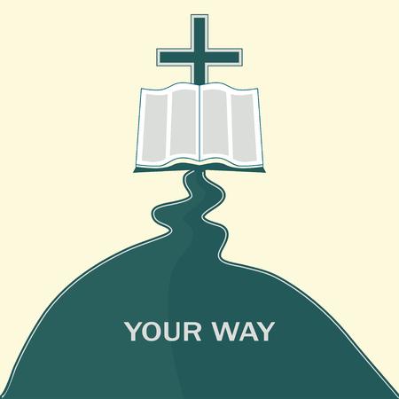 holy symbol: Camino de fe Vectores