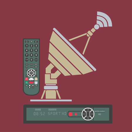 airwaves: Satellite antenna Illustration