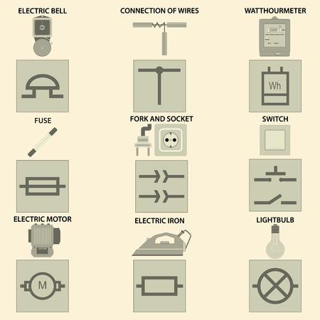 Nett Industrielle Elektrische Schematische Symbole Fotos - Der ...