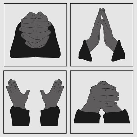 hands in: Hands in prayer