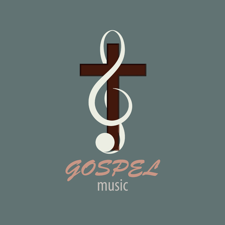 Logo Gospel Music Stock Photo