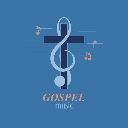 Christliches musiklogo Standard-Bild - 70036636