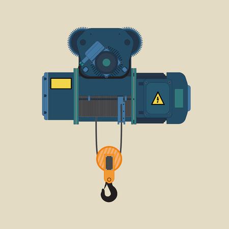 Palan électrique pour chargement ou déchargement. Banque d'images - 80921412
