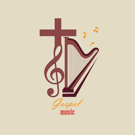 reach out: Musical logo, which symbolizes Evangelical music. For music studios that reach out to Christian music.