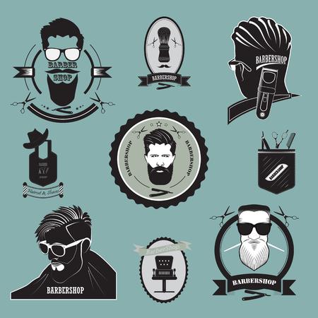 Eine Reihe von Logos im Zusammenhang mit Friseur-Aktivitäten. Standard-Bild - 89975784