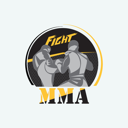Emblem for mixed martial arts. Illustration