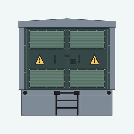 전기 패널, 전기 계량기 및 회로 차단기, 고압 변압기 그림