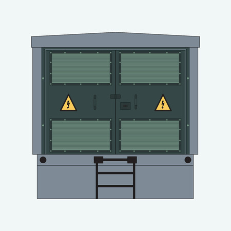 Picture of the electrical panel, electric meter and circuit breakers, high-voltage transformer Standard-Bild - 94825783