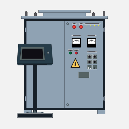 Technical object, rectifier for electrotechnology. Transformer to increase or decrease the voltage of the electric current and the control panel.