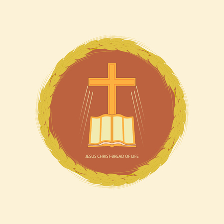 Die Bibel und das christliche Kreuz-Symbol Standard-Bild - 95525584