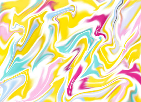 Digital fluid art design, imitation of marble stone or liquids. Colorful and vibrant abstract background. Zdjęcie Seryjne