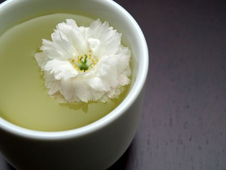 Detail of an Asian floral teacup Stock Photo - 4773094