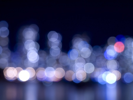 City night lights and water reflection Stock Photo - 11968848