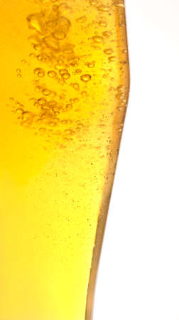 condensate: Beer texture from glass, covered with condensate isolated on white