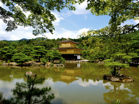 quenching: Temple of the Golden Pavilion in Kyoto