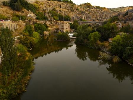 toledo: Tagus river in Toledo