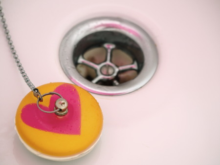 Waste pipe and drain plug with heart love