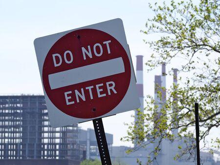 do not enter sign: Sign do not enter Stock Photo