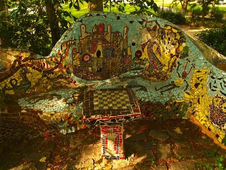 grant: Mosaic around Grant Tunb Stock Photo
