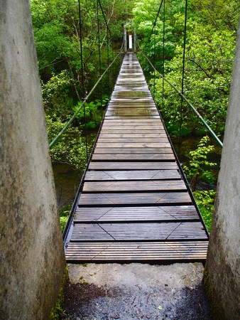suspenso: Puente colgante Muios da Furada
