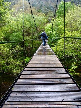 suspenso: Puente colgante Mui? os da Furada