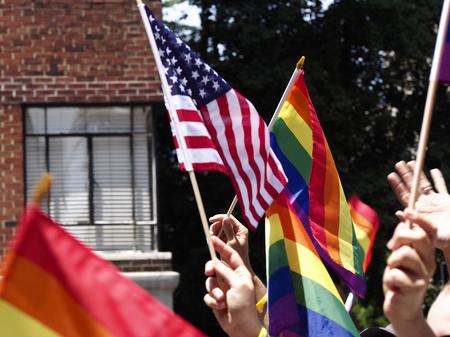 transexual: Banderas en el desfile del Orgullo Gay