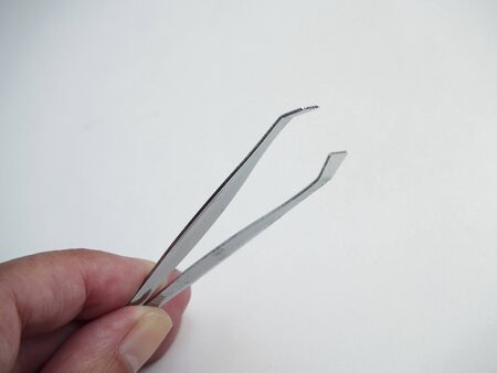 pinzas: Tweezers on white background