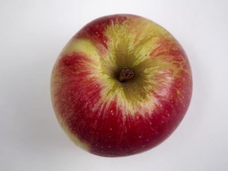 pome: Isolated Akane apple Stock Photo
