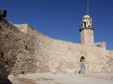 Tower and wall of mount of Olives Stock Photo