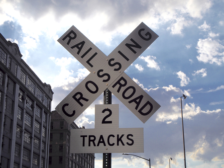 railroad crossing: Sign rail road  crossing